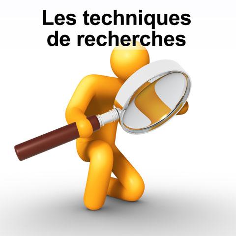 Les techniques de recherches